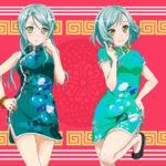 【ガルパ】チャイナドレス姿のえちえち氷川姉妹!(※コラ画像)