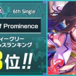 【お知らせ】RAISE A SUILENの6th Single「mind of Prominence」ウィークリーセールスランクイン記念!スタープレゼント!