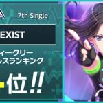 【お知らせ】RAISE A SUILENの7th Single「EXIST」ウィークリーセールスランクイン記念!スタープレゼント!